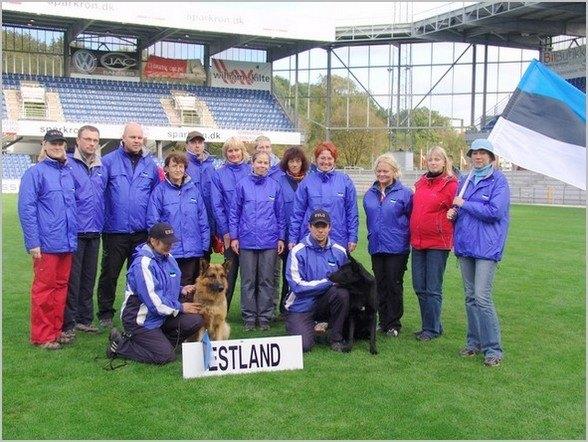 WUSV IPO MM 2006 (Randers, Taani) - Eesti meeskond fännidega